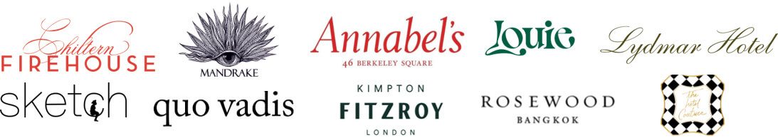 Bespoke Hotel Scents, we've worked with Chiltern firehouse, Mandrake, Annabel's, Louie, Lydmar Hotel, Sketch, Quo Vadis, Fitzroy and Rosewood